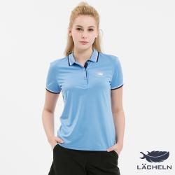 【LACHELN】Coolmax涼爽抗UV彈力POLO衫-淺藍(L72W910