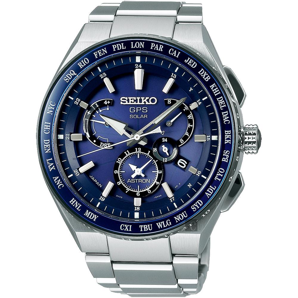 (無卡分期24期)SEIKO精工 ASTRON 雙時區鈦GPS衛星定位手錶(SBXB155J)