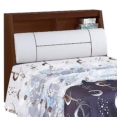 品家居 丹尼3.5尺胡桃木紋皮革單人床頭箱-106x27x97cm免組