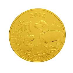 澳洲皇家生肖紀念幣-2018狗年生肖金幣(1/2盎司)