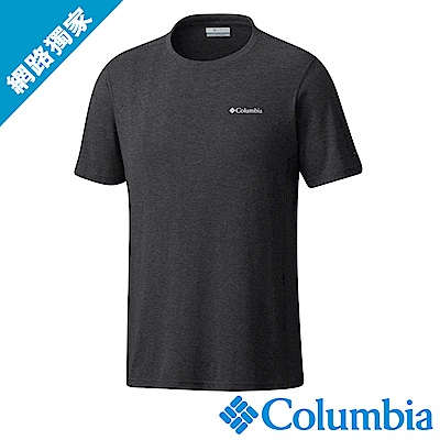 Columbia哥倫比亞 男款-快排短袖上衣深灰 UAM13010DY