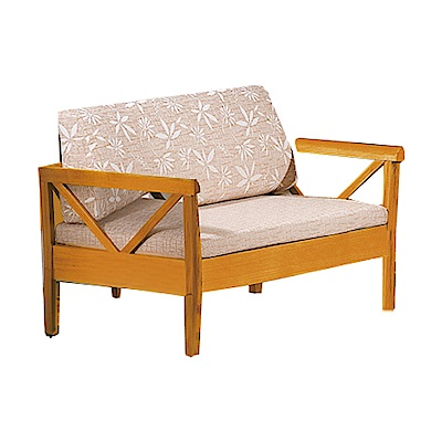 品家居 維斯其亞麻布實木沙發雙人座-131x76x85cm-免組