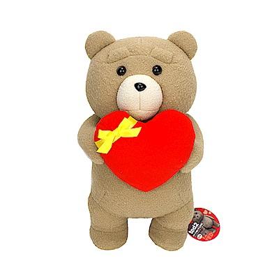 FANS 日版 熊麻吉2 景品 TED 泰迪 火紅愛心 絨毛娃娃 A款