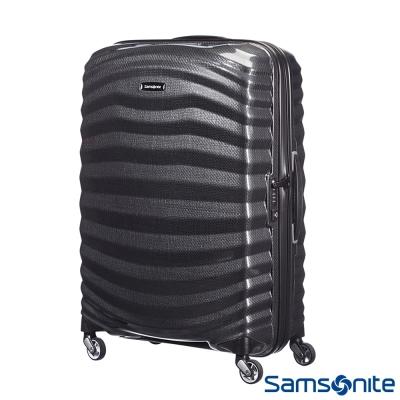 Samsonite新秀麗 25吋Lite Shock極輕Curv四輪拉桿頂級硬殼箱(黑)