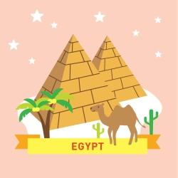 LOVIN 超萌韓版數字油畫 城市系列埃及(4) 1幅