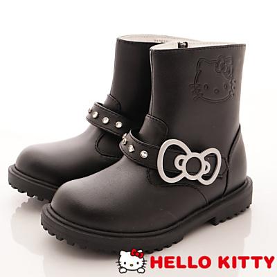 HelloKitty童鞋 鑽飾中筒靴 17515黑(中小童段)T