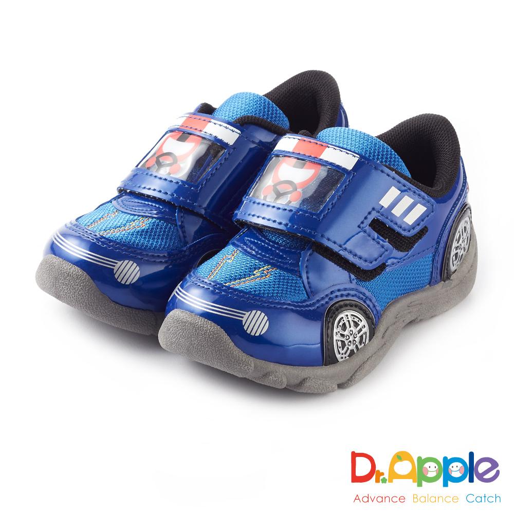 Dr. Apple 機能童鞋 可愛俏皮人物開車碰碰運動童鞋款 藍