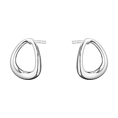 GEORG JENSEN 喬治傑生-OFFSPRING 極簡純銀耳環