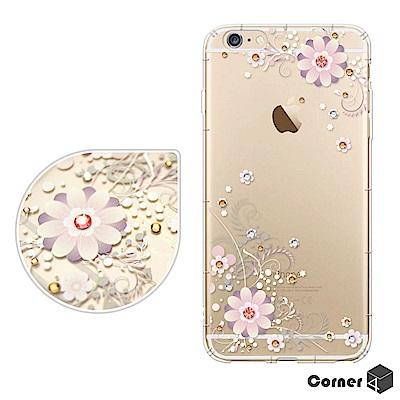 Corner4 iPhone6s/6 4.7吋 奧地利彩鑽防摔手機殼-風鈴草
