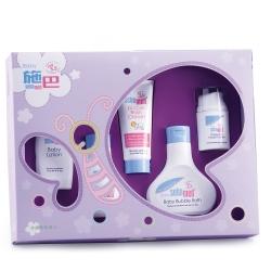 sebamed施巴 嬰兒紫色蝴蝶小五件禮盒