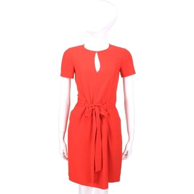MOSCHINO 紅色綁帶設計短袖洋裝