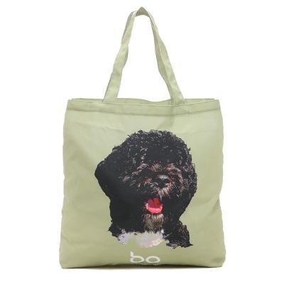 Kitson 名人愛犬系列購物袋(橄欖綠)