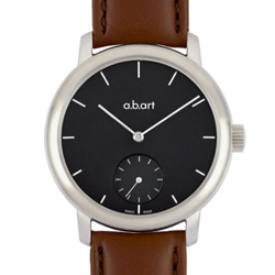 a.b.art MM系列  手上鍊動力儲存機械腕錶-黑/46.5mm
