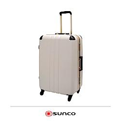 日本SUNCO  27吋 復古款 護角鋁框拉桿箱 大容量 靜音輪