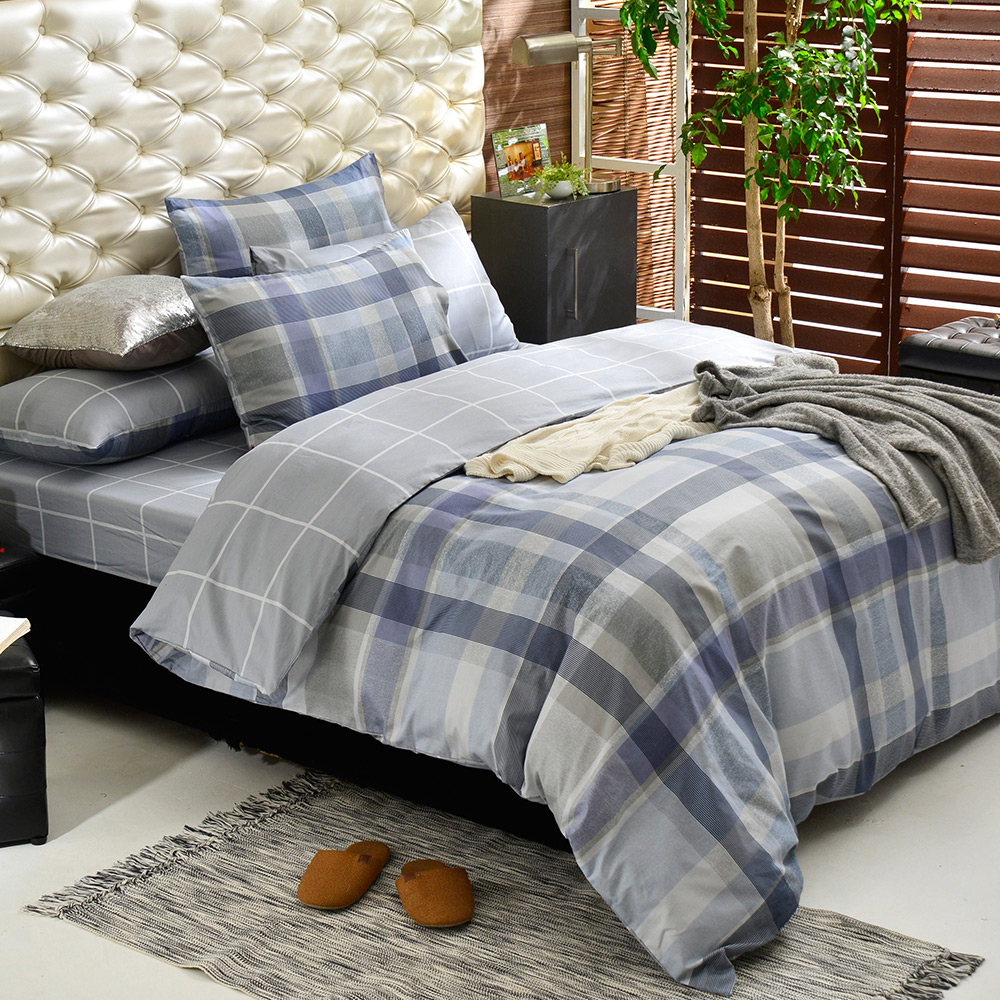 英國Abelia 簡單格調 加大純棉四件式被套床包組