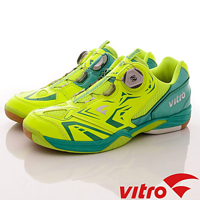 Vitro韓國專業運動品牌-NIVA-FLEX2頂級專業羽球鞋-螢光綠(男)