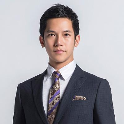 極品西服 100%絲質口袋方巾_紫咖斜紋