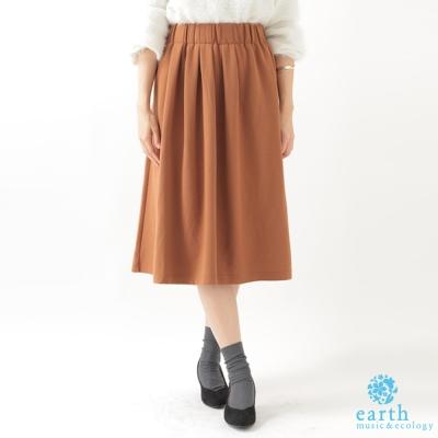earth-music-甜美鬆緊腰際中長裙