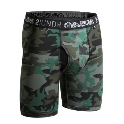 2UNDR Gear Shift 極限運動快乾內褲(9吋)-深綠迷彩