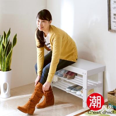 Cest Chic - Grit可莉實木穿鞋椅 W90*D33*H45.5cm