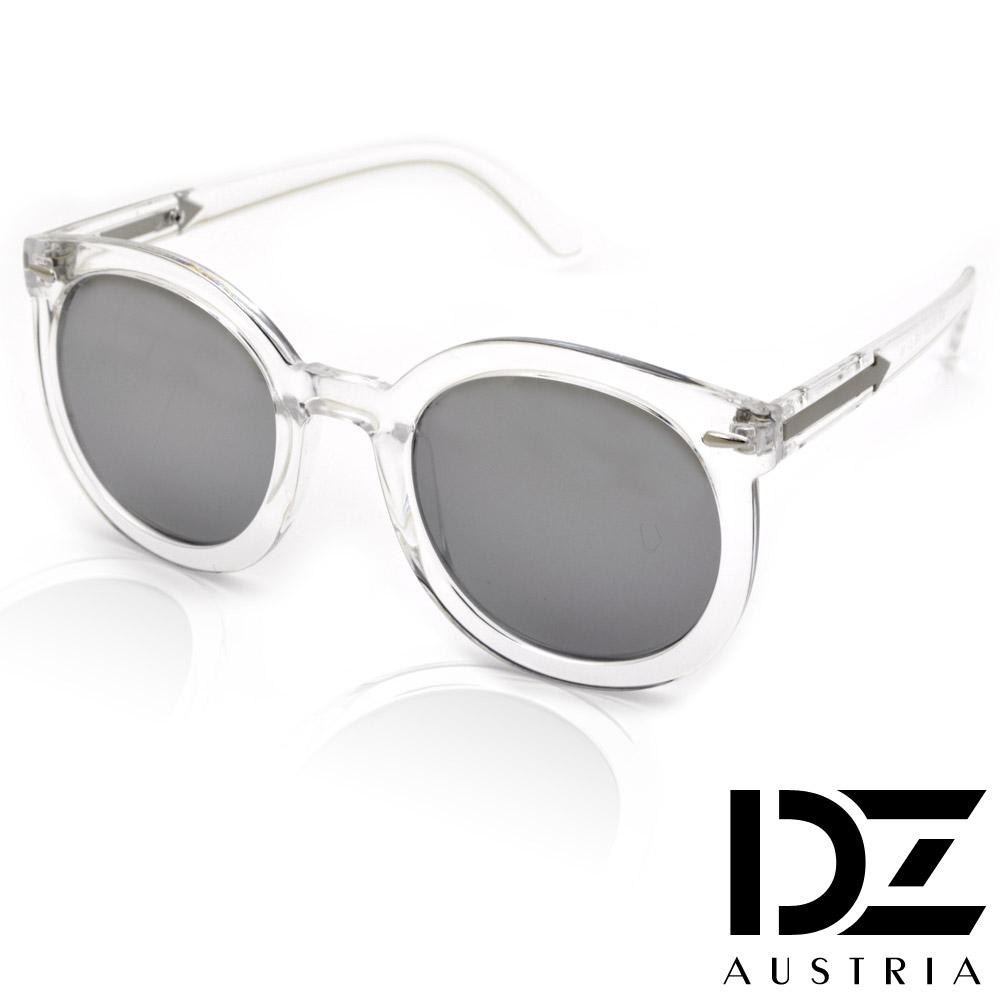 DZ 箭矢光透 抗UV造型太陽眼鏡墨鏡(透明框水銀膜)