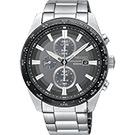 SEIKO精工 Criteria 太陽能計時碼錶(SSC651P1)-灰x銀/43mm