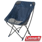Coleman CM-31283 療癒椅/圓點藍 包覆型休閒椅/摺疊椅/野餐露營椅/大川椅