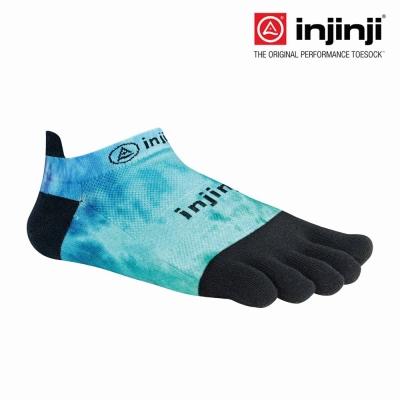 【Injinji】RUN 輕量吸排五趾隱形襪-水紋藍