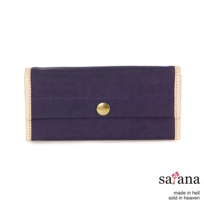 satana - 掀蓋式長夾 - 紫色