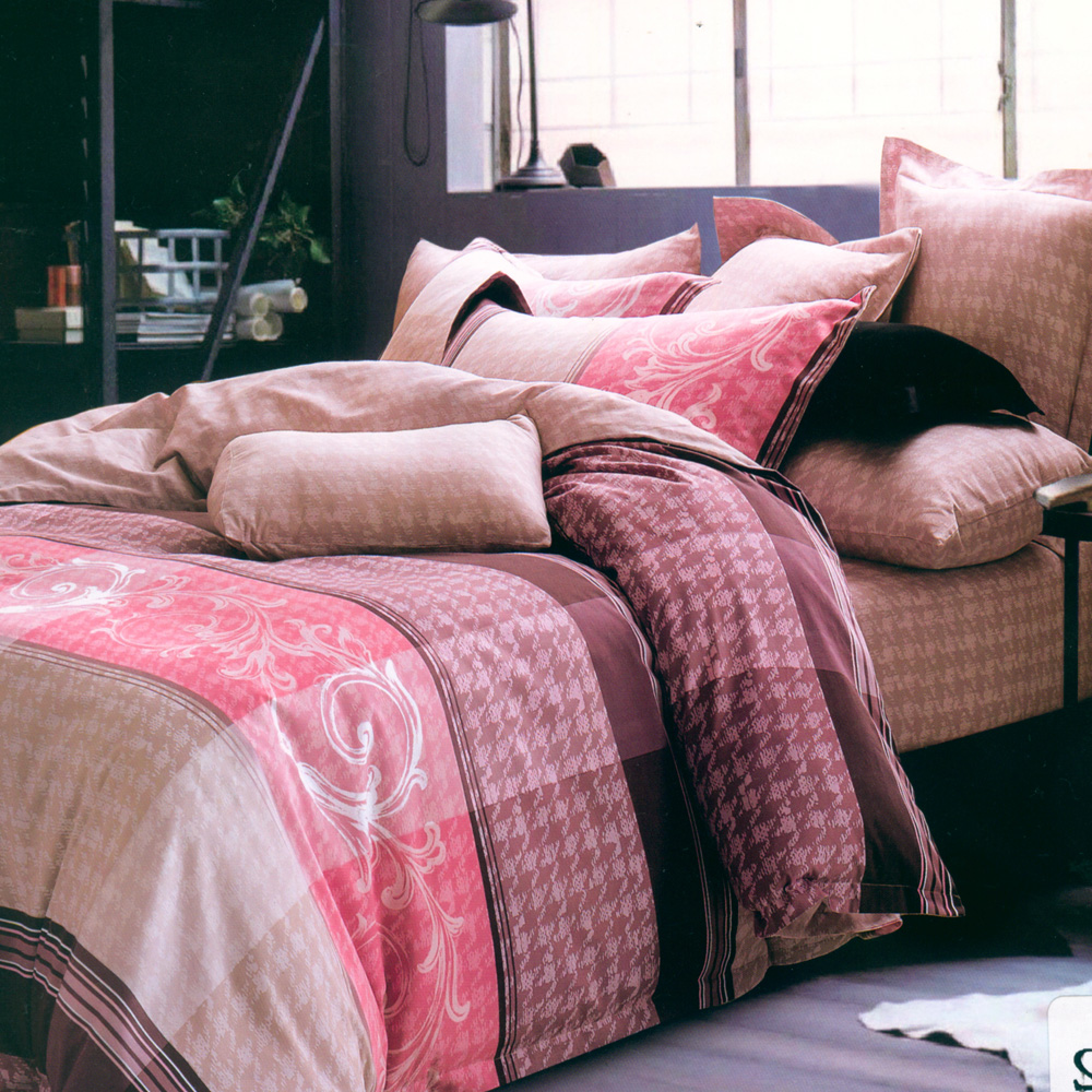 100%天絲系列 雙人兩用被床包四件組-安娜貝拉-粉