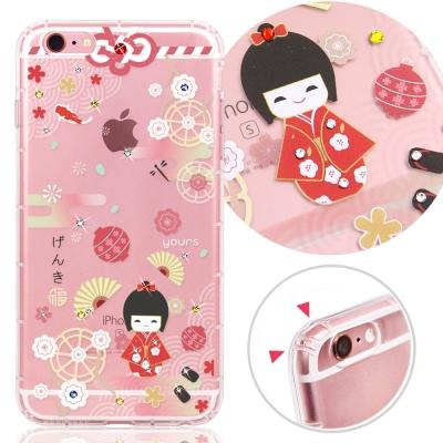 YOURS APPLE iPhone6s Plus 奧地利水晶彩繪防摔手機鑽殼-...