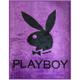 PLAYBOY-紫戀奢華-細柔舒適珊瑚絨毯