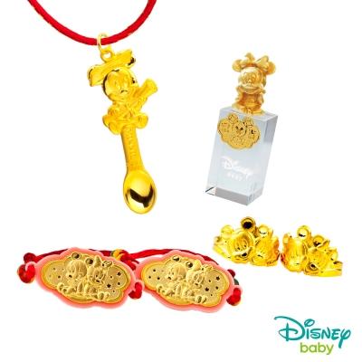 Disney迪士尼系列金飾 彌月金飾印章套組木盒-榜首美妮款-美妮造型印章 <b>0</b>.95錢
