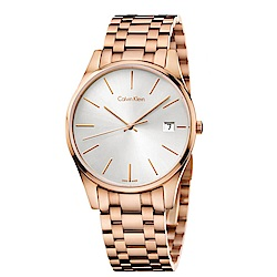 CK CALVIN KLEIN Time 時光系列鍍PVD玫瑰金手錶-40mm