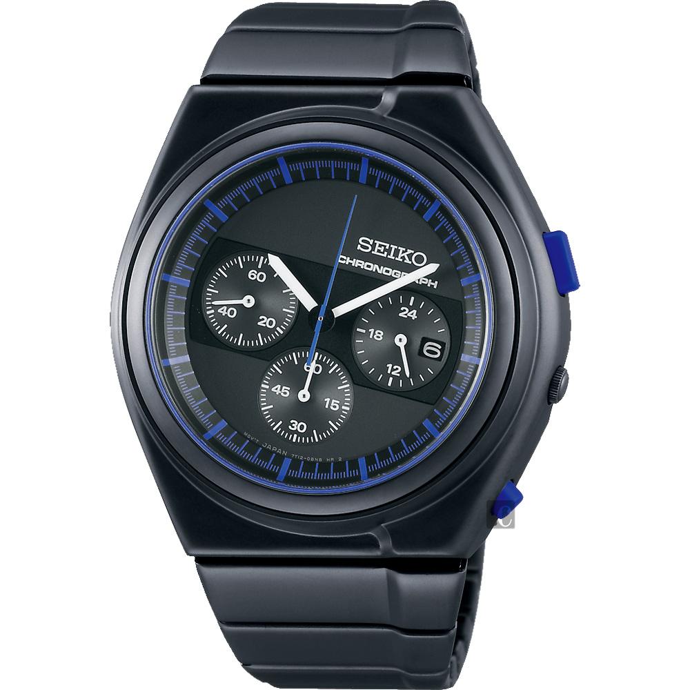 SEIKO精工 GIUGIARO DESIGN 聯名設計限量計時腕錶(SCED061J)