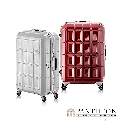 日本PANTHEON 24吋 玫瑰紅  網美行李箱 輕量鋁框登機箱