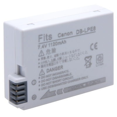 Kamera for Canon LP-E8 高品質鋰電池(DB-LPE8)