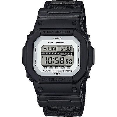 CASIO卡西歐G-SHOCK軍事風飛行夾克手錶-黑