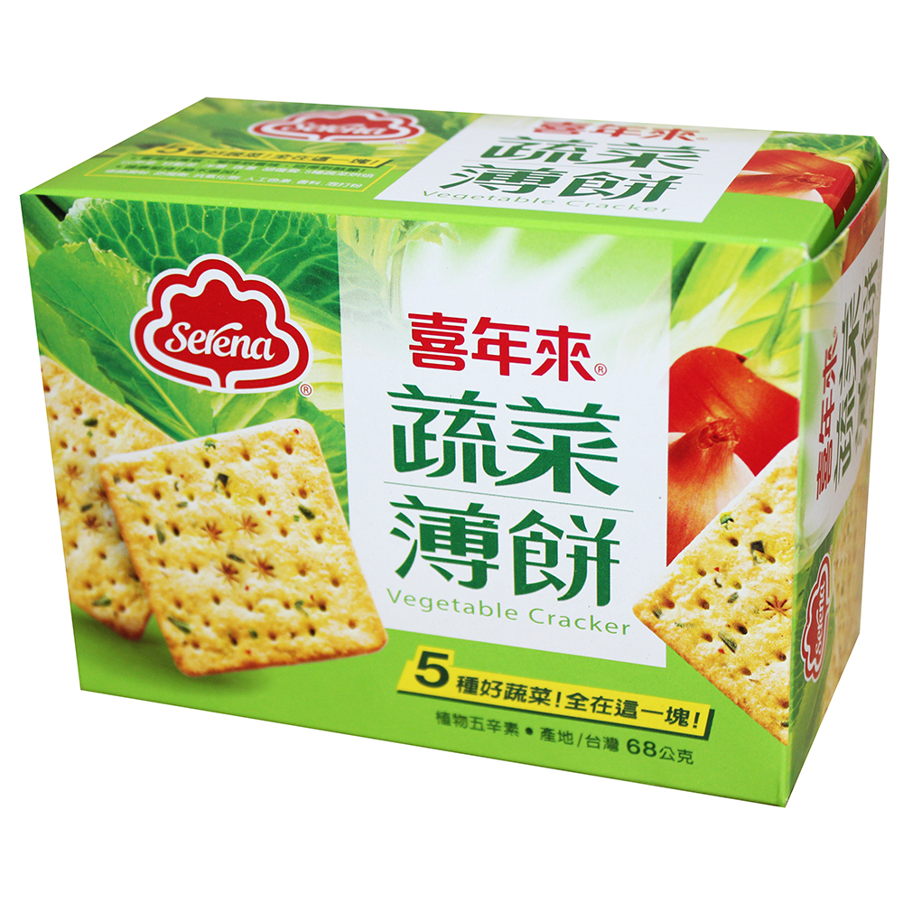 喜年來 蔬菜薄餅隨手包(68gX2盒)