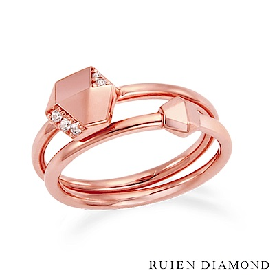 RUIEN DIAMOND 韓國輕珠寶 飾品 配件14K玫瑰金 戒指 LR128