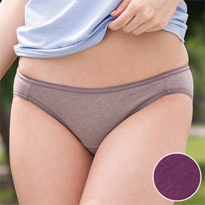 華歌爾-健康黑竹炭M-LL低腰高裾三角褲(羅蘭紫)