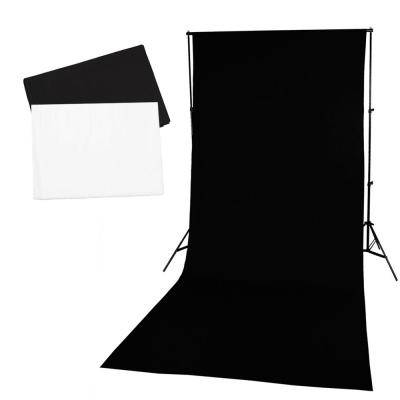 可攜式移動背景架黑白背景布全套組-附提袋