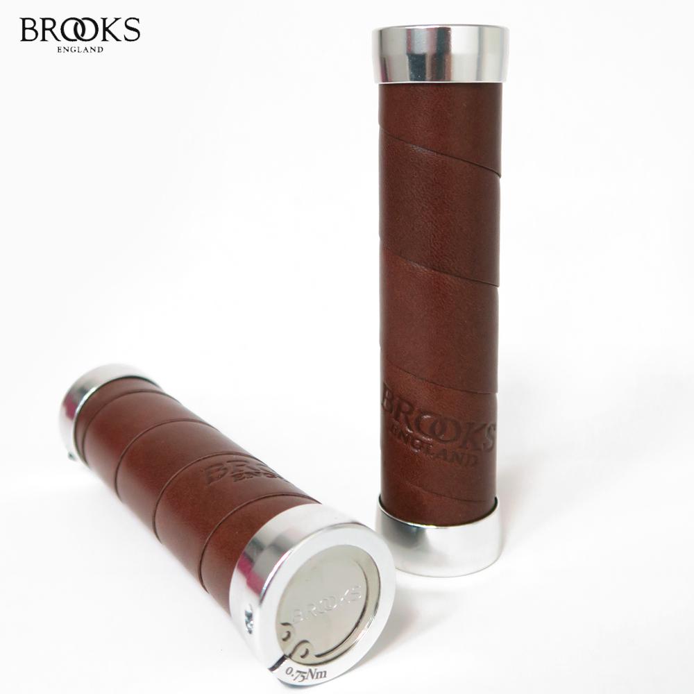 【BROOKS】SLENDER英國真皮手握BLG4-130mm_褐色咖啡皮銀環