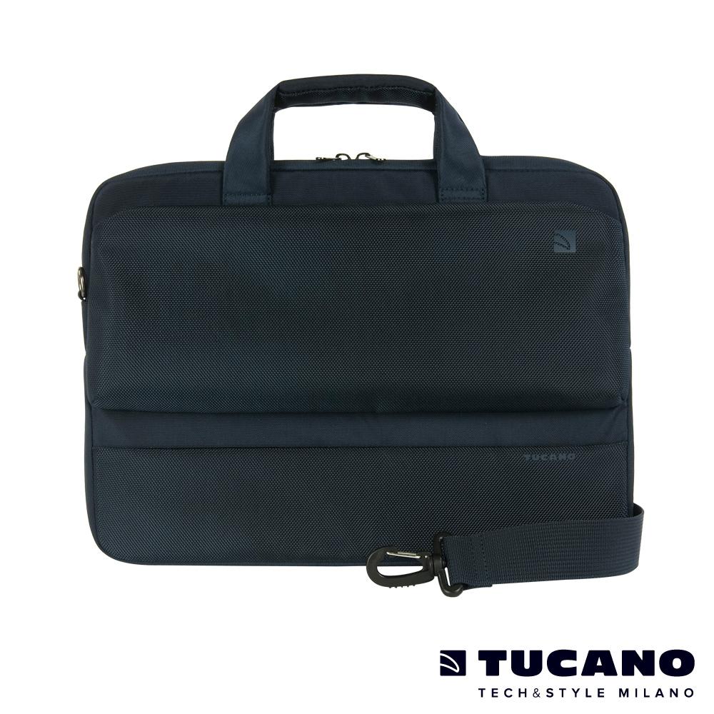 TUCANO Dritta MB 13.3吋簡約時尚側背包-藍