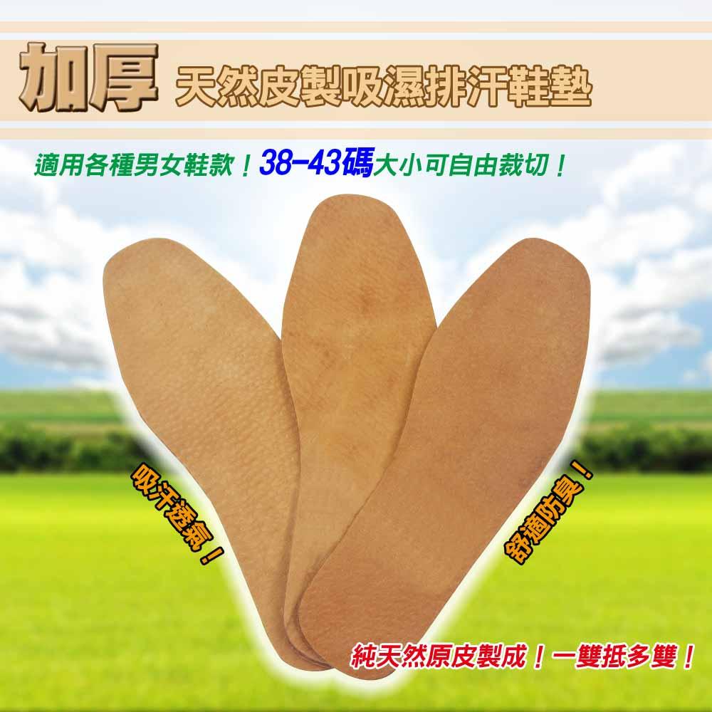 [團購_10入組]加厚天然皮製吸濕排汗鞋墊-10雙入