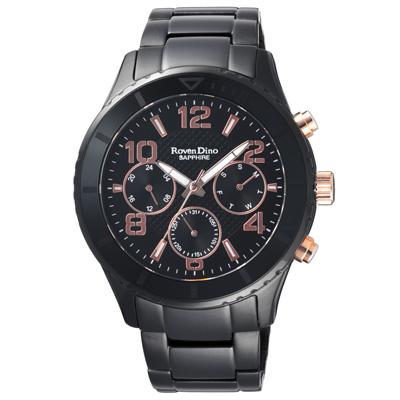 Roven Dino羅梵迪諾  無邊之界三眼腕錶-RD730B-396-43mm