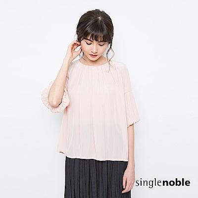 獨身貴族 浪漫柔情五分袖設計上衣(2色)