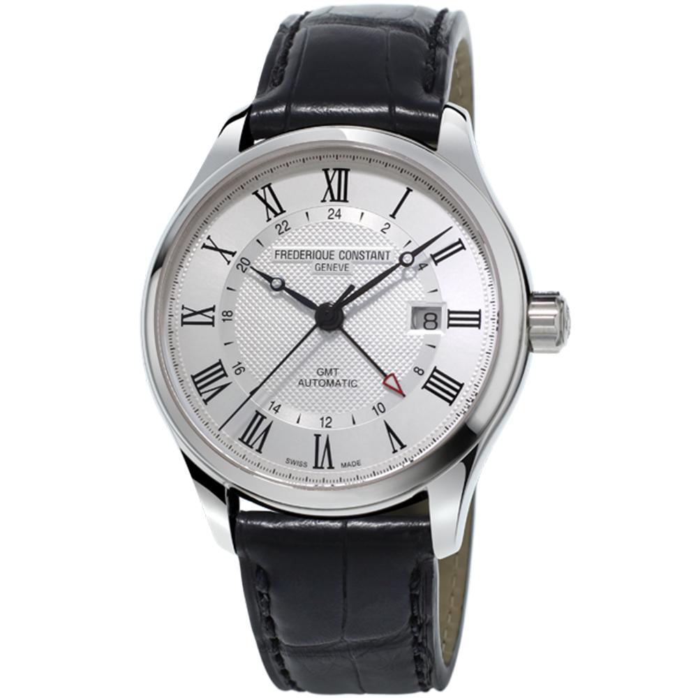 康斯登CLASSICS AUTOMATIC GMT腕錶-42mm/白x黑