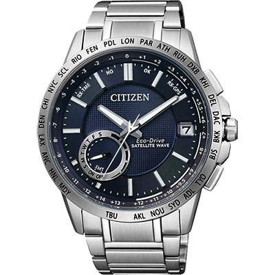 CITIZEN GPS光動能衛星對時萬年曆錶(CC3001-51L)-藍/44.5mm