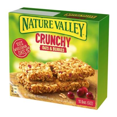 Nature Valley天然谷 纖穀派-蔓越莓燕麥(42gx5條)